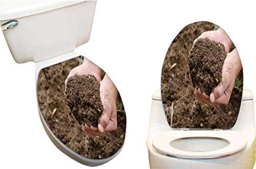Vinyl Toilet Lid Decal Compost Soil organicfertilizer on for platation Fashion Toilet Seat Wall Sticker Decals Vinyl Art 12x14
