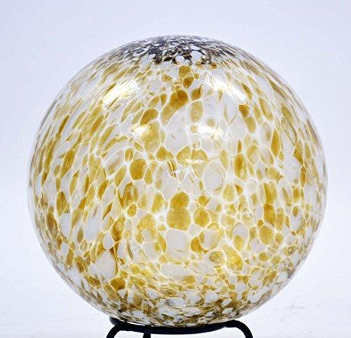 10 Inch Glass Garden Gazing Ball ChocolateWhite Spots Color transparent no mirror finish