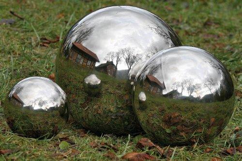 Boltze 1 Pc Silver Sphere Galaxy Decorative Ball Garden Sphere Garden Figure 1063