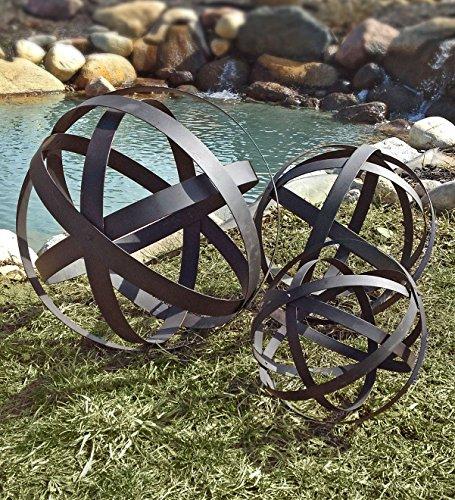 Rustic Garden Spheres - Set of 3