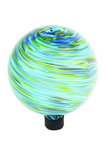 Russco Iii Gd137197 Glass Gazing Ball 10&quot Blue Swirl
