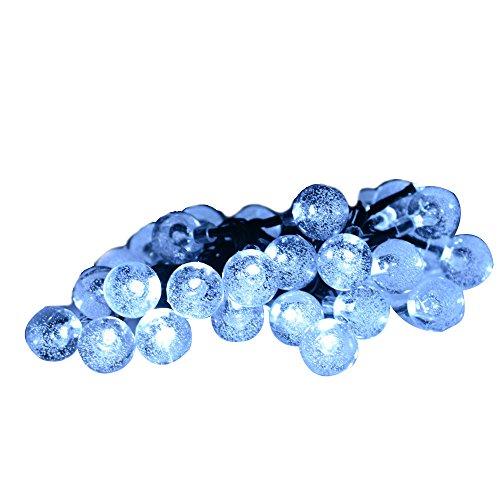 Annt&reg Solar Outdoor String Lights 20ft 30 Led Warm White Crystal Ball Solar Powered Globe Fairy Lights For Garden