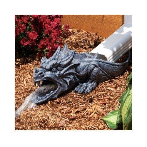 Dragon Rain Gutter Statue Garden Statues Garden Sculptures Garden Statues Animals Fairies Gnome Statues Yard Statues