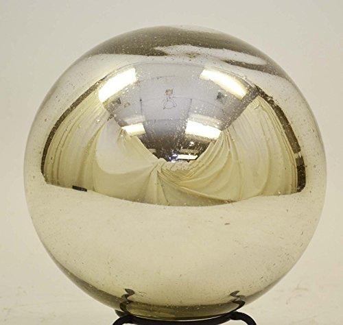 10 Inch Glass Garden Gazing Ball Silver Color