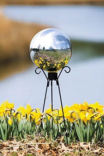 Evergreen Enterprises Eg491345 Silver Glass Gazing Ball By Gifted Living