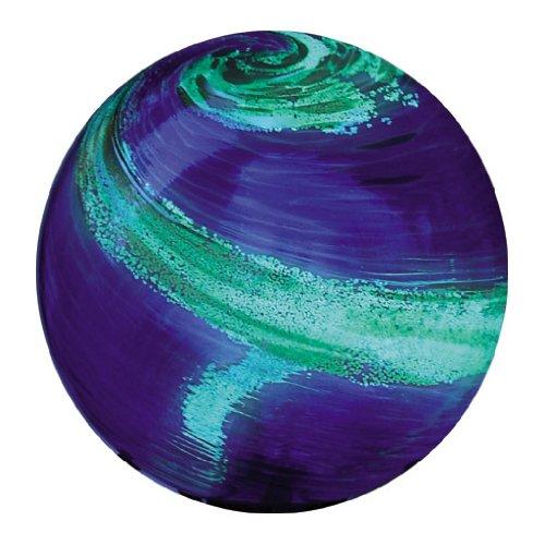 Echo Valley 8140 10-Inch Glow-in-the-Dark Illuminarie Glass Gazing Globe Light Blue Swirl