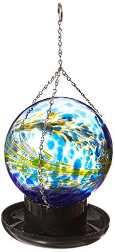 Russco III GD096326 Glass Gazing Ball Seed Feeder