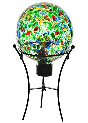 Russco III GD132208 Glass Gazing Ball Green