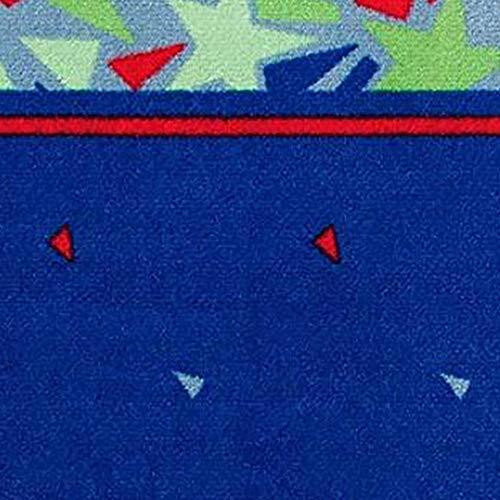 Delta Children Soft Kids Area Rug for Boys 25 Foot X 4 Foot Star GazeRed Blue Green