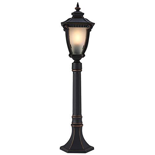 LABYSJ Waterproof IP65 Outdoor Pillar Light Vintage Patio Aisle Lawn Column Lamp Villa Pillar Light Balcony Post Lantern Die-Cast Aluminum Glass Garden Pedestal