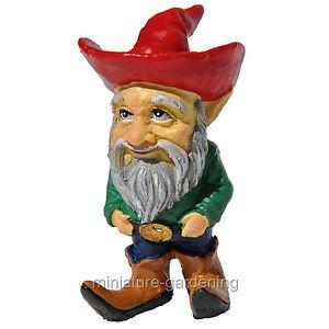 Miniature Fairy Garden Cowboy Gnome