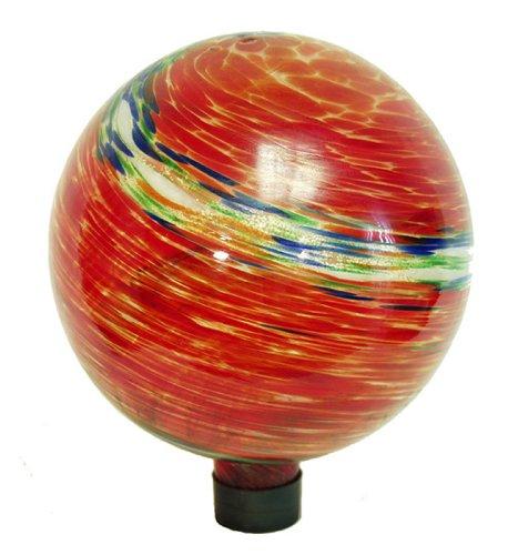 Echo Valley 8155 10-Inch Glow-in-the-Dark Illuminarie Glass Gazing Globe Red Swirl