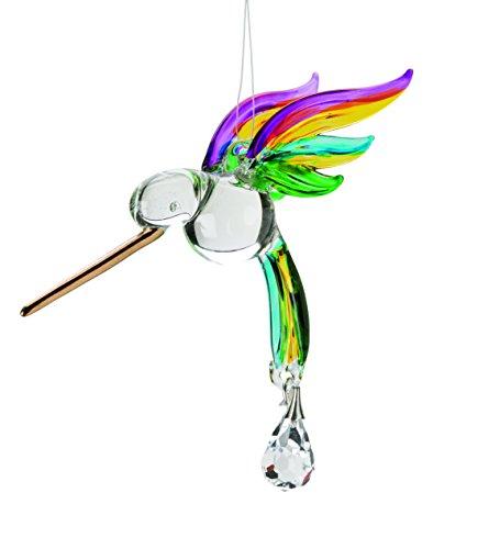Glass Hummingbird Suncatcher In Rainbow