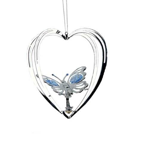 Silver Butterfly Suncatcher Ornament