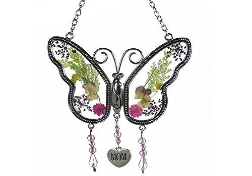 Smart Life Helper Mom Butterfly Mother Suncatcher With Pressed Flower Wings - Butterfly Suncatcher - Mom Gifts
