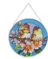 Stained Glass Birds Suncatcher