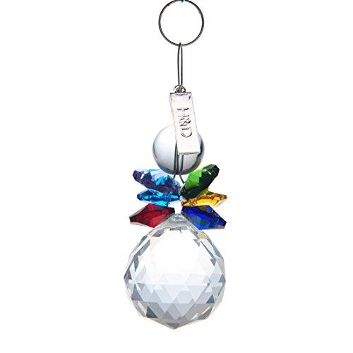 H&ampd Crystal Ball Pendant Chandelier Prism Hanging Suncatcher multi-color