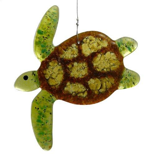 Sea Turtle Fused Glass Sun Catcher Handmade In Usa
