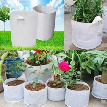 10pcs 30x25cm Non-woven Fabrics Root Control Bag Flowers Seedling Bags