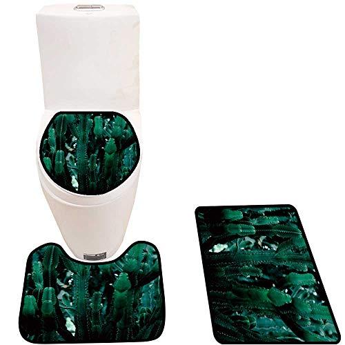Toilet Carpet Floor mat Cactus Photography gi t Cactus Non-Slip Soft Absorbent Bath Rug