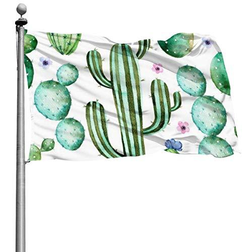 Cactus Plants Durable Yard Garden Flags Seasonal Home Decorative for Indoor Outdoor 4x6 Ft