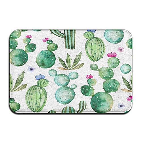 Chrisiny Eletina Cactus Mat Outdoor Memory Foam Non Slip Bath Mat Cactus Plants 16 X 24 Inchcactus Decor Teal