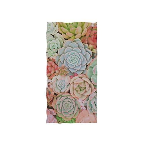 Zaqiwa Luxury Towels Succulents Plant Natural Leaf Planting Succulent Soft Towel Fingertip Hand Towel for Baby Bathroom Shower Wrap Gym Sport 30x15 Inch Children Hand Towels