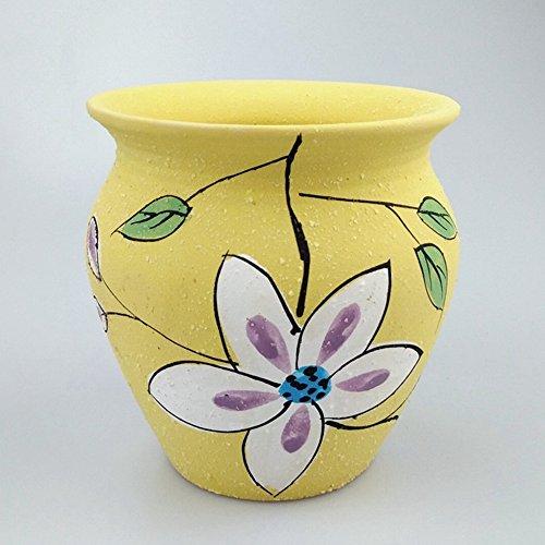 1 PC Large Korean Creative Ceramic Oil Flow With Bottom Hole Succulents Pots Korean Multi-Color Flower Pots Small Plant Containersr