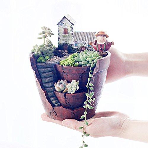 American Country Pastoral Creative Garden decorative Handwork Plant Resin Succulent Flower Pot Planter Hanging Gardens