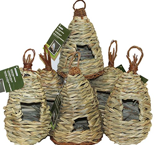 24 Asst Wholesale Natural Grass Wicker Woven Bird Houses Roosting Pouches Nests