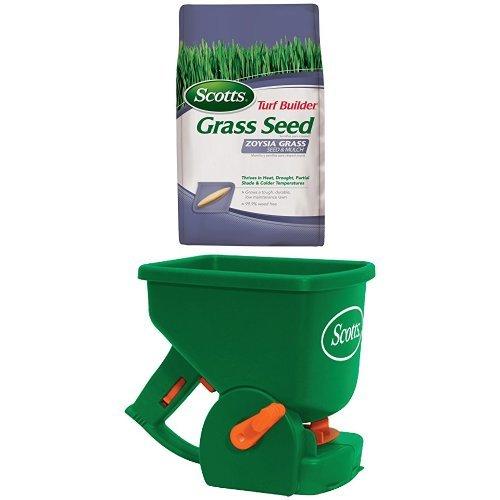Scotts Turf Builder Zoysia Grass Seedamp Mulch And Spreader Bundle