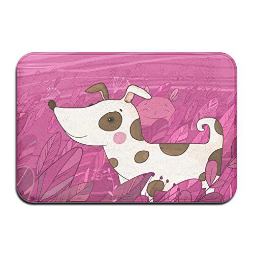 Kkyoxdiy Entryway Door Rug 16 X 24 Inch Floor Mat Cute Cartoon Dog in The Grass Area Rug