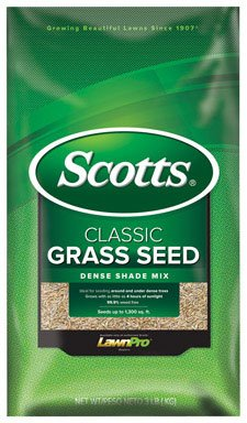 Scotts Company 17290 Classic Dense Shade Mix Grass Seed 3-Pound