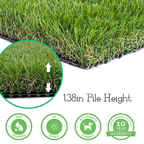 Realistic Thick Artificial Grass Turf - 4FTX13FT52 Square FT Indoor Outdoor Garden Lawn Landscape Synthetic Grass Mat