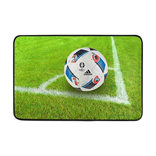 AIDEESS Soccer In Grass Sport Patterns Doormats Entry Way Indoor Outdoor Door Rug with Non Slip Backing 236 by 157-Inch