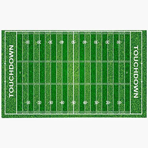 Ahawoso Doormat Door Mat 16x24 Inches First Football Field Texture Grass Sports Contains Down Sport Recreation Textures Transparencies Machine Washable Non Slip Mats Bathroom Kitchen Decor Area Rug