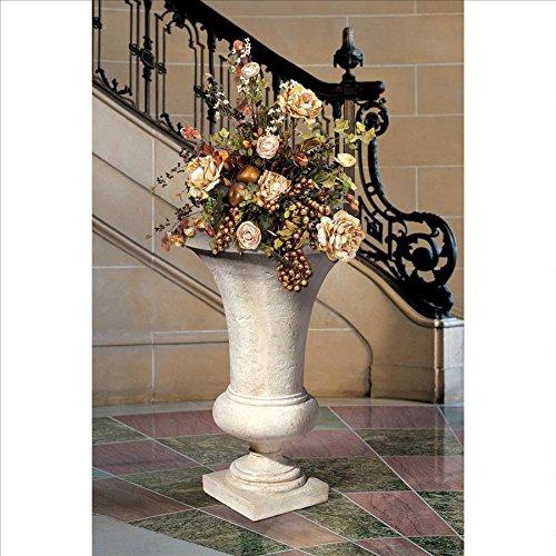 Design Toscano Viennese Architectural Garden Urn Medium Ivory