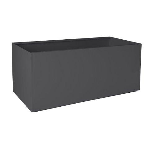 Nice Rectangular Charcoal Grey Aluminum Planter - 20X46X20