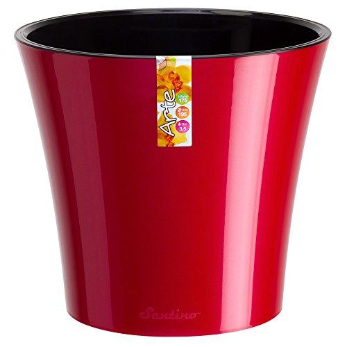 Santino Self Watering Planter Arte 86 Inch Red-pearlblack Flower Pot
