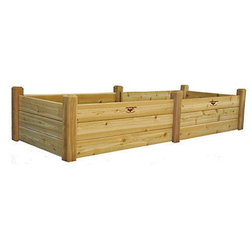 Gronomics Rgbt 34-95 34-inch By 95-inch By 19-inch Raised Garden Bed Unfinished