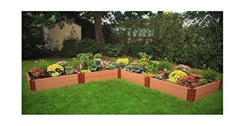 L-Shaped Raised Vegetable Garden Bed