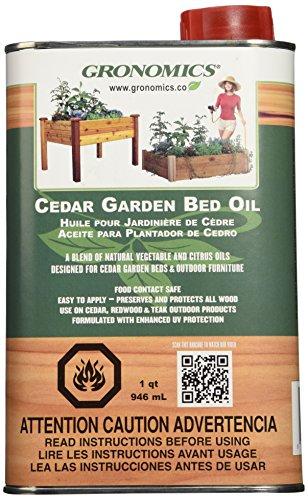 Gronomics Gbo1q Cedar Garden Bed Oil 1-quart