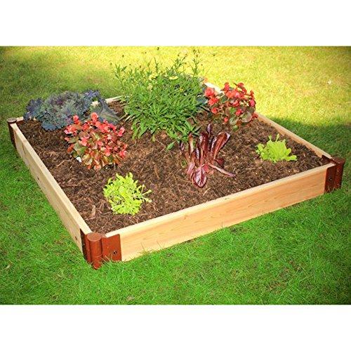 Frame It All 1-inch Series Cedar Raised Garden Bed Kit - 4ft X 4ft X 6in