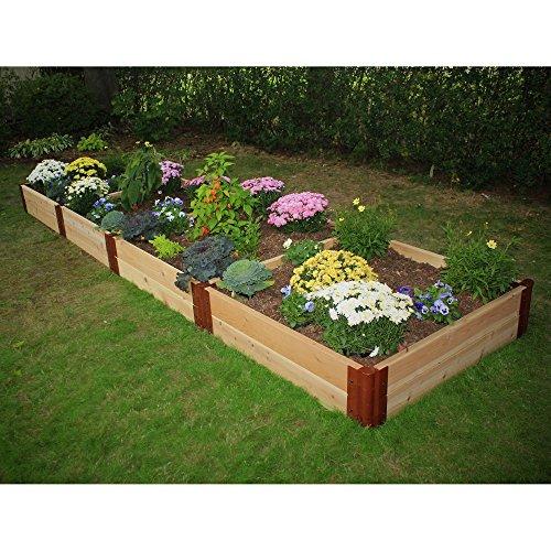 Frame It All 2-inch Series Cedar Raised Garden Bed Kit - 4ft x 16ft x 12in