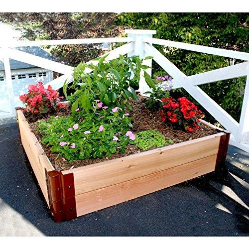 Frame It All 2-inch Series Cedar Raised Garden Bed Kit - 4ft x 4ft x 12in
