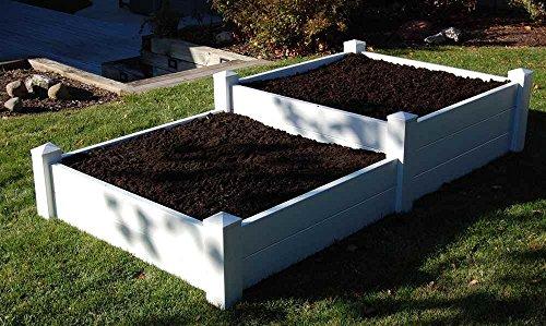 Split Level Planter Bed in White Finish