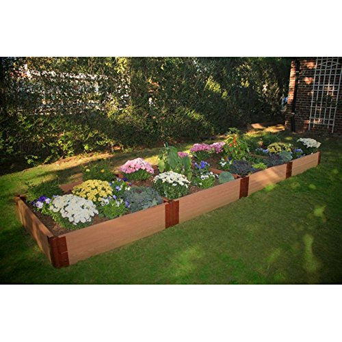 Frame It All 2-inch Series Composite Raised Garden Bed Kit - 4ft x 16ft x 11in