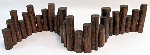 Master Garden Products Teak Wood Uneven Top Solid Log Edging 48-Inch