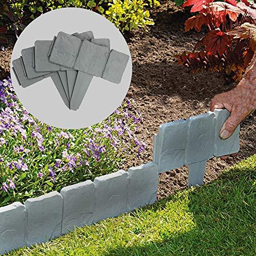 Redmoon 6-Piece Plastic Lawn Grass Trim Garden Plant Flowerbed Border Fence Decoration