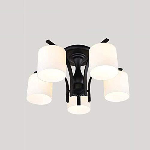 QTQZDD Ceiling Light-American Led Iron Simple Modern Garden Ideas Living Room Bedroom Restaurant Energy Saving